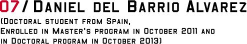 DANIEL DEL BARRIO
