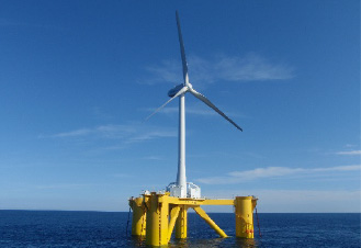 福島沖の浮体式洋上風力発電設備