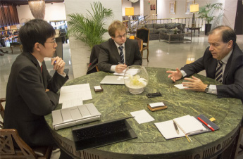 スペインにて建設関連企業の国際展開戦略に関するインタビュー