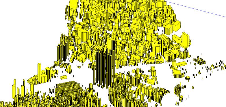 図3:イスタンブールの統合地震シミュレーション(ゼイティンブルヌ地区のモデル)